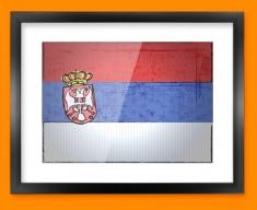 Serbia Flag Framed Print