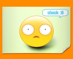 Shock Emoticon Poster