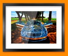 Silver Mercedes Framed Print