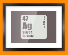 Silver Periodic Element Framed Print