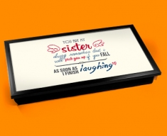 Sister Typography Laptop Tray