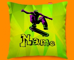 Skateboard Personalised Childrens Name Sofa Cushion