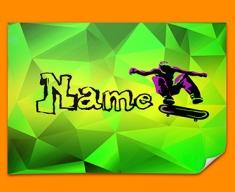 Skateboard Personalised Childrens Name Poster