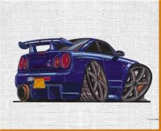 Skyline GTR 590 Canvas Art Print