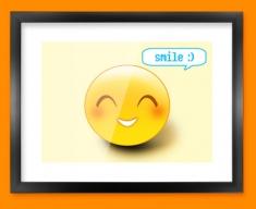 Smile Emoticon Framed Print