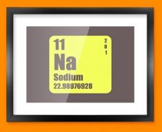 Sodium Periodic Element Framed Print
