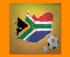 South Africa 2010 Flag Napkins (Set of 4)