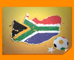South Africa 2010 Flag Poster