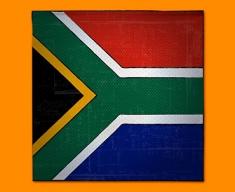 South Africa Flag Napkins (Set of 4)