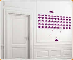 Space Invaders Set Wall Sticker