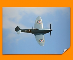 Spitfire Supermarine Plane Poster