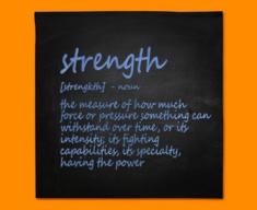 Strength Definition Napkins (Set of 4)
