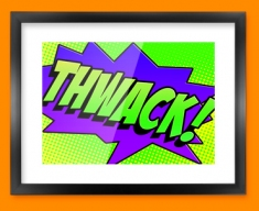 THWACK Comic SFX Framed Print