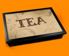 Tea Rings Typography Lap Tray