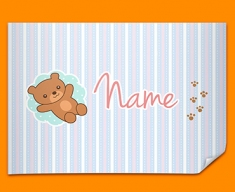 Teddy Personalised Childrens Name Poster