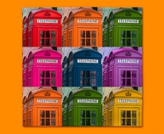 Telephone Box Collage Napkins (Set of 4)