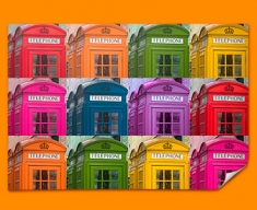 Telephone Box Collage Poster