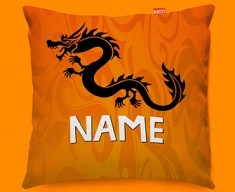 Tribal Dragon Personalised Childrens Name Sofa Cushion