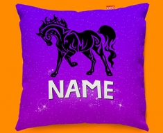 Tribal Horse Personalised Childrens Name Sofa Cushion