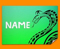 Tribal Snake Personalised Childrens Name Poster