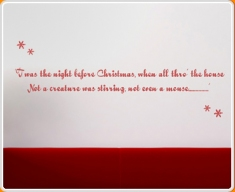 Twas the night before Christmas Wall Sticker