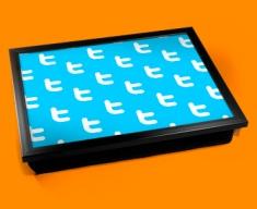 Twitter Pattern Cushion Lap Tray