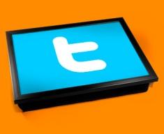 Twitter T Cushion Lap Tray