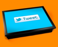 Twitter Tweet Cushion Lap Tray