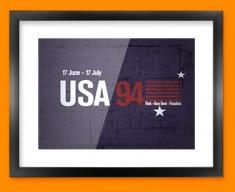 USA 94 Flag Framed Print