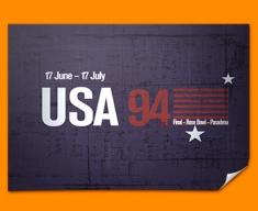 USA 94 Flag Poster