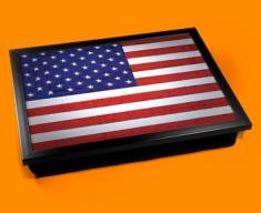USA Flag Cushion Lap Tray