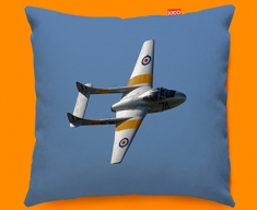 Vampire de Havilland Plane Sofa Cushion