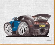 Veyron Rear Canvas Art Print