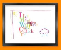 Wander Typography Framed Print