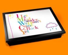 Wander Typography Lap Tray