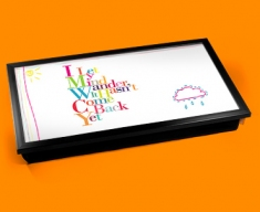 Wander Typography Laptop Tray
