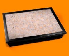 White Roses Cushion Lap Tray