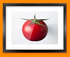White Tomato Framed Print