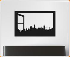 Window Silhouette London Wall Sticker
