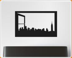 Window Silhouette New York Wall Sticker