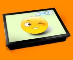 Wink Emoticon Lap Tray