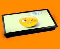 Wink Emoticon Laptop Tray