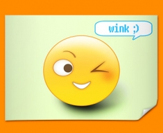 Wink Emoticon Poster