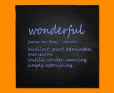 Wonderful Definition Napkins (Set of 4)