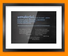 Wonderful Definition Framed Print