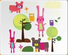 Woodland Animals Set Wall Sticker