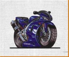 Yamaha R1 Canvas Art Print