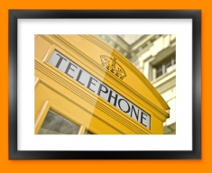 Yellow Telephone Box Framed Print