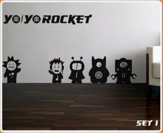 Yo Yo Rocket Set 1 Wall Sticker