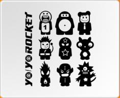 Yo Yo Rocket Set 2 Wall Sticker
